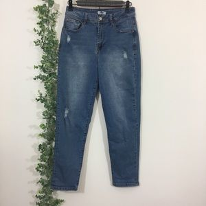 Kensie distressed high waisted skinny jeans